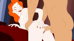 Curvy redhead cartoon babe love feels big cock in her huge asshole