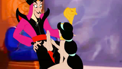 Jasmine takes Jafar cock in her mouth and then gets cock in ass
