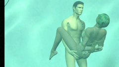 Crazy 3d sex under water