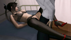 Sexy 3D babe in lingerie fucks with her boss in office