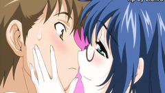 Lovely kissing between two naughty cartoon heroes