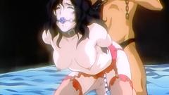 Submissive brunette babe loves rough BDSM pounding so much!