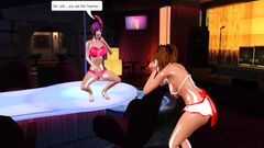 Futanari fuck in the strip bar - 3d cartoon porn