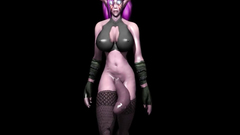 This night elf babe has a really big dick