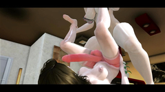 Crazy 3d fuck with horny shemale babes with big cocks