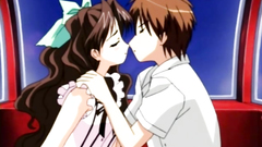 Animated teenage love story in hentai cartoon
