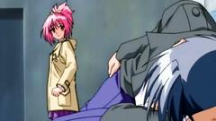 Young hentai girl looks very nice in anime toon