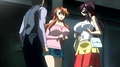 Big breasted hentai girls in animated erotic cartoon