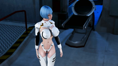 Cyborg Girl in sexy uniforms and in white stockings