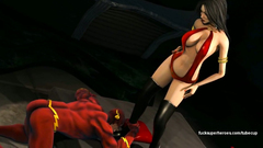 Flash gets fucked with a brutal busty woman
