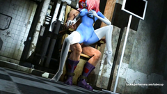 Mystique with big perfect ass riding on the Magneto dick