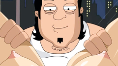 Louis Griffin turns to gungster for some threesome toon action |  Family Guy