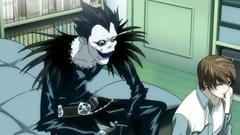 Ryuk fucks an amazing Misa Aname in her mouth and twat | Death Note porn