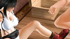 Busty brunette 3D Tifa gets monster cock in wet pussy | Final Fantasy