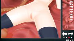 Huge tentacles and big dicks fucks young 3d hentai blonde in black stockings