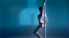 Strip dance by a gorgeous dancer with amazing body
