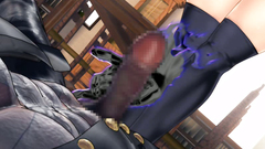All holes penetration of a sexy hentai school girl in black stockings
