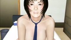 Facial for a cute face of a stunning Asian babe in hardcore 3d porn