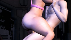 Kinky BDSM action on the spaceship with a yummy hottie with big tits