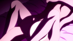 Hot and seductive hentai porn in a purple colors