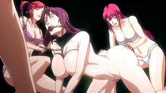 Bondaged naked babes with big tits love BDSM action