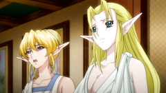 Lovely blonde elf babe gets in trouble with goblins