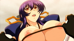 Busty anime slut moans loud while gets drilled