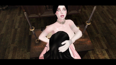 Nun and demonic babe hardcore 3D fuck in futanari toon