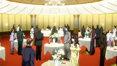 High society with rich guys and ladies in hentai cartoon