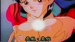 Handsome naked anime girls in erotic hentai cartoon