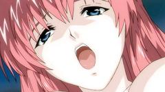 Sweet anime babe masturbates and rubs her wet pussy