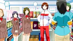 Young and sexy schoolgirl in hentai cartoon