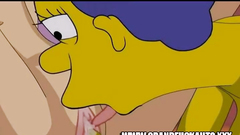 Marge Simpson And Lois Griffin Sstrapon Fuck