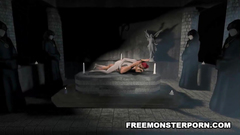Evil 3d mess ends with passionate fuck for naked babe