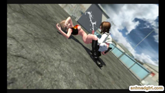 3D animation shemale schoolgirl hardcore fucked