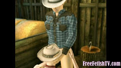 3D Animation: Young Cowgirl Fucked and Creampied