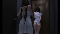 Japanese 3D futa hot handjob
