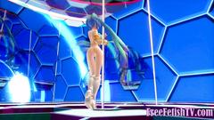 3D Tiny Blue Doll Pussy Tease