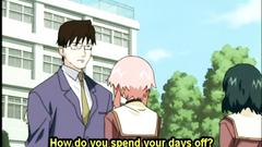 Japanese cutie anime sucking big and hard dick