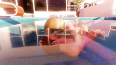 3D Busty Babe Gets Facial at the Pool!
