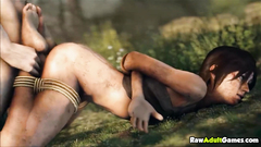 Lara Croft tied and fucked doggystyle
